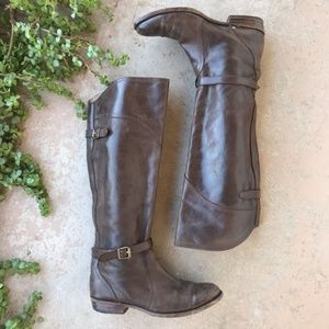 FRYE Brown Leather Dorado Riding Tall Boots